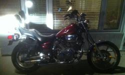Selling a 1984 Yamaha Virago 1100, has new front and rear tire, rear brakes, new battery, new jardine exhaust, motor turns over very stong but has a miss in the front cyclinder, must go. It was safetied last year, zero problems, i drove it for about 500