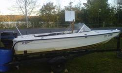 1985 16' cutter fiberglass boat with a 65 hp merc. runs great no need for it as we dont use it enough. it has NO trailer but will deliver locally. 600 obo please call as we dont check our e-mail alot. steve at 705-801-2051 thanks