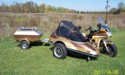 1985 Limited Edition with 1988 California Friendship II Sidecar and Cargo Trailer all colour matched. One owner since 1990, This baby has been well looked after! Call or Email for details or make an offer! Storage 'til spring no problem!