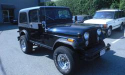 1985 JEEP CJ7 5 SPEED STANDARD 76,878 KM NEW ENGINE NEW REAR END NEW CLUTCH NEW CARB HAVE ALL THE SERVICE RECORDS $4,900 PLEASE CONTACT: 604-788-9178 FOR MORE INFORMATION