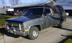 For Sale as is 1986 chev half ton 2 wheel drive. Runs good . No room to store $.1700.00 or best offer .As Is  were is uncertified.