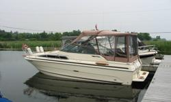 24ft 1986 Searay Sundancer in excellent condtion.  Sleeps 4 and has an aft cabin, GPS, depth finder, canopy and many more features.Also comes with tandem trailer.  Please call for more details.