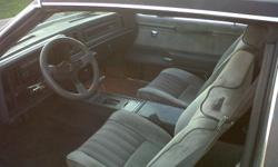 1987 Buick Regal 2-Dr. with rare t-top Car is a three owner car...last owner 10 yrs.  Car was garage kept and driven very very little.  Car has 64,000 original kms.  Car was original paint up until last year but because of scratches, not rust, the car was