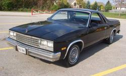 1987 El Camino - Fuel injected 350, runs great, US vehicle with 89,000 miles. Good shape but not mint. Being sold as is, needs no Emission test. Collector's item, last year made, come take a look. Asking $4500 or best offer. Please call 519-752-4671