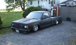 Make Chevrolet Model S-10 Year 1985 Colour black kms 62890 Trans Manual 87 CHEVY S10 CUSTOM LOWRIDER TRUCK SITTING ON AIR RIDE SUSPENSION 350 CORVETTE ENGINE HEDDERS DUAL EXHAUST 5 SPD STANDARD TRANS CORVETTE RIMS SOLID BODY RUNS AND DRIVES GOOD FAST