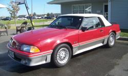 """This car was appraised by Sunburn Auto Appraisals of Alberta that stated """"A VERY, VERY WELL KEPT, ORIGINAL CONVERTIBLE WITH VERY LOW KM'S, SUMMER DRIVEN ONLY & IT SHOWS. ONE WOULD HAVE A HARD TMIE FINDING ANOTHER 1987 MUSTANG GT CONVERTIBLE IN THIS"""