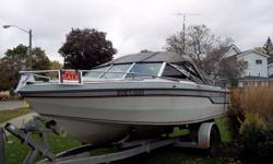 1987 GREW BOWRIDER WITH EASY LOAD TRAILOR  OPTIONS POWER FULL GAGE PAKAGE ALPHA ONE 205 V6 MERC AUTO BILGE HAVE ORIGANAL OPERATION POWER TRIM & TILT AND MAINTENANCE MANUAL BLOWER POWER STEERING NEW CAMPER TOP STORAGE -TRAILERING COVER FOUR NEW