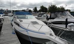 Magnum Express model with 350 Merc motor and outdrive, 30 amp shore power, dual batteries with switch and charger, bennet trim tabs, sleeps 4+ comfortably, aft cabin, dc fridge, alc-electric stove, head, fresh water tank, sink, plenty of storage, lots of