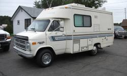 1988 Chevrolet Sprint 20 Foot Motor Home. 350 V8, Auto, Only 76,000 Miles, Fully Loaded Including, 3 Way-Fridge, Stove, Micro-Wave, TV, Furnace, Air Conditioning, Trailer Hitch, Washroom with Toilet, Basin and Shower,  Sleeps 4 People. This is a Super
