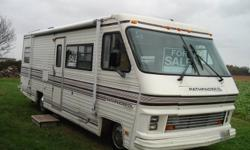 For Sale: Classic 28 ft. 1988 Pathfinder Motorhome. easy to park P30 chassis, in very good condition. 454 lGMC Engine 91500 miles. Sleeps 6, seat belts for 9, working condition furnace, A/C, kitchen with fridge, microwave, gas range/oven and double sink,
