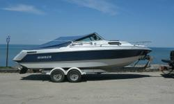 Selling my 23' Rinker V230 Cuddy cabin boat. Bought it and found it is too big for what I want to do with it. Floor and mounts were completely redone last year. The lower unit was completely redone, all new gears,seals,shafts,gaskets. Has power trim tabs.