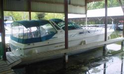 1988 SEARAY 390 EXPRESS.      T7.4/340 MERCS (1300 ORIG HRS), CLOSED COOLING,  WHITE /TEAL,  FULL CAMPER,  LOADED  WITH FEATURES, ALWAYS FRESH WATER AND COVERED STORAGE.   PRICE $49,900 CDN