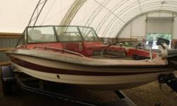 RED EXTERIOR COLOUR, EVINRUDE XP150, LADDER, OUTBOARD, 2-STROKE, STAINLESS STEEL PROP, ENGINE NEEDS WORK...CALL FOR MORE INFORMATION 1-800-837-6556 UNIT SOLD UNINSPECTED WITH ZERO SALE POLICY! www.1000islandsrv.com