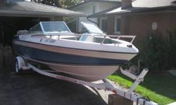 1988 Wellcraft Bowrider with fiberglass construction 18 Feet in length Inboard/outboard 4 cylinder Merc. motor and transit. Comes with new cover and bimi top. Swimming platform. Eagle fishfinder is included. The trailer is in excellent condition The