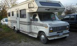 1989 FORD FLEETWOOD HOLIDAIRE CLASS C MOTORHOME (27 ft).   Clean & well maintained, sleeps 6. Captain's chairs in seating area.  Propane heat, fridge and cooking stove. Newer cooking stove & electric A.C. 3 pc bath includes shower and tub,  $7000.