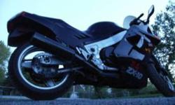 I am selling my ZX10 because I have no time to ride it or any room at my new house. It has a new battery, new tires, rebuilt forks, brakes and much, much more. It is a great deal for 2000 I also have a Joe Rocket jacket, a pair of Joe Rocket riding