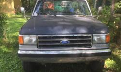 Make Ford Model F-250 Year 1990 Colour Blue Trans Automatic Truck runs great, 160xxx on the motor. Dose have a tranny problem no sure what the problem is tho. $2000 or make me a deal. Message for more details or to come and take a look at it.