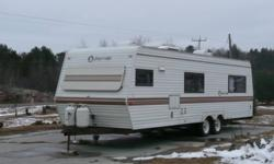 Im not exact on the year, 1990(early 90's). Trailer is in excellent shape, fully loaded , awning, AC, fridge, stove , HW tank, furnace, sleeps 6. Everything is in perfect working order. If you have any questions please phone. Emails will not be responded