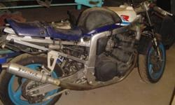Price just REDUCE $4000.00 FIRM!! I have a BASKET CASE 1991 Suzuki GSX-R Frame. 1989 1100 cc  Motor.. No time to put it back together. With tons of extra parts..I have spent over $6000 buying original parts and tons of hrs finding these parts.. no low