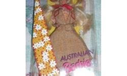 I am selling a 1992 AUSTRALIAN DOLLS OF THE WORLD Barbie by MATTEL. She comes in her original box and never been opened.   ****I am starting to sell off all my entire barbie collection of over 100 dolls, all new in boxes ****