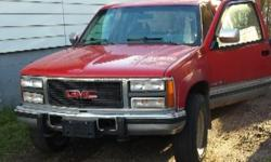 Make GMC Model 2500 Year 1993 Colour red kms 330000 Trans Automatic Approx. 330,000km 6.5 litre detriot diesel needs brake lines ,runs drives good , great work truck needs some tlc $2500.00 or best reasonable offer email if no answer on phone