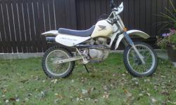 In great shape, runs great, perfect for a first bike for kids wanting to learn how to ride, this is what I started on, and it was awesome.Don't let the stickers fool you, it is an XR 80, not a CRF. Give me an offer and we can work out a deal.