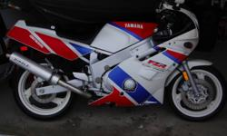 This bike is in original immaculate condition. Never seen rain, Ridden wisely. 23092  original km. This is the cleanest FZR you'll find, runs perfect and needs nothing. I love this bike but must sell. Get the nicest bike before spring!!!  call John at
