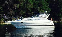 Excellent condition, 7.4 liter bravo 2, new canvas, upholstery, tender, barbeque, stereo, trailer with guides, bumpers, all new in 2015. Leg was rebuilt August of 2015. Have all history and maintenance records. This boat is turn key