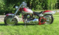 CUSTOM SOFTAIL:  BUILT IN 2001 THIS BIKE LOOKS AND WORKS PERFECT. 1994 POWERTAIN ALL REDONE RIGHT.STD CASES,SINGLE FIRE IGNITION,ADJUSTABLE PUSHRODS,THUNDERJET CARB UPGRADES,HEADS DONE,2 INTO 1 PIPES,CAM,AND MUCH MORE. 85 HP .NEW METZLER TIRES,2 SEATS