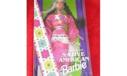 I am selling a DOLLS OF THE WORLD Barbie by MATTEL. She is a 1994 NATIVE AMERICAN, Third edition, in her original box UNOPENED   ****I am starting to sell off all my entire barbie collection of over 100 dolls, all new in boxes ****
