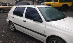 Make Volkswagen Model Golf Year 1994 Colour white kms 300000 Trans Manual 1994 VW Golf Diesel -as is for parts only floor is really bad Super high km's but will keep going Starts up, runs fine, still gets 700km+ per tank, body is decent is driveable but