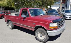 Make Ford Model F-150 Colour Maroon Trans Manual kms 250000 This truck is a single cab 4 By 4 model with locking hubs and it has a sporty 5 speed standard shift transmission, has the 4.9L straight 6 Cylinder and has 250,000 kms and still runs great, has