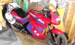 Bike is in mint shape with dual exhaust. Comes with a jacket,gloves and a helmet  to match.Will trade for a 4 wheeler racer of equal value. Call Raymond at (709)642 5301.