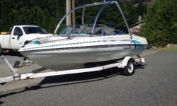 Super clean lake boat ,never been in saltwater. Second owner, had for 3 years never any mechanical issues, runs great! Powered by a 125hp merc out board. Stored indoors during winter and is gone over annually! - after market stero - wakeboard tower - 5