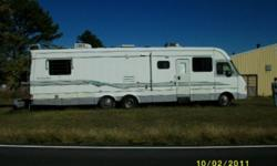 """1996 Newmar Kountry Star 38 Foot RV Motorcoach Motorhome Super Slideout Ford . This coach has the Ford Chassis and the Ford Motor """"460"""" which is very economical and trouble free. Another amazing feature of this coach are the AIR BAGS for suspension. These"""