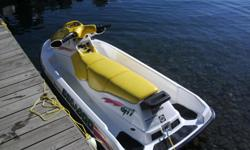3 person Seadoo GTI in excellent shape. 717 cc Rotax motor. New Powersport Batttery in June. Like new galavanised trailer and tiedowns. Includes ski tube and ski rope. Always garage kept and freshwater use. I have owned this seadoo for 10 yrs and never