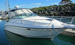 Are you looking for a great express cruiser for the summer? Here is a nice 25' Doral powered by a 5.7LX Mercruiser with a new Bravo Leg. With a roomy cabin, lots of storage, fridge, cook-top, hot water, aft cabin and a drop down dinette, this boat is