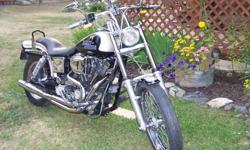 """Bought an 09 FLHX, so my FXDWG has to go. (Ole Lady won't let me keep it in the house anymore) This bike was bought in 04 from the Dealer in Smithers BC. Custom Factory Paint, 96"""" S&S Stroker with Performance Cam, Roller Rockers, S&S Super E carb with"""