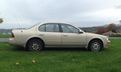 Make Nissan Model Maxima Colour Gold Trans Automatic Hi there, 1997 Nissan Maxima GLE -Slight damage on rear driver side -CD player doesn't work -RPM gauge is wonky -Power everything -268,000km The car still runs good, and I believe has quite a bit of