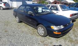 Make Toyota Colour green Trans Automatic kms 132000 1997 Toyota corolla , 4 cylinder , automatic, great on fuel and very reliable. only 132,000 kms. Bouman Auto Gallery Ltd. 1701 Bowen Rd. Nanaimo, BC . V9S 1G8 d22863 ph . 250 753 2292 (10-5) All cars