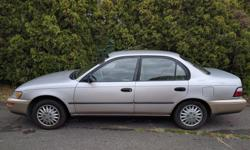 Make Toyota Year 1997 Colour beige Trans Automatic kms 329000 1997 Toyota Corolla. It was my grandparents car up until 4 years ago. A great little commuter car that is good on gas. Newish tires, 329000 km but still going strong.