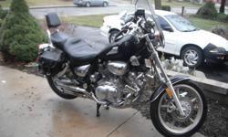 1100 Virago. 44,708 KMs. $2500. Not exact on the year as I am posting the bike for somebody. I believe it is either a '96 or '97. You can contact them by phone for the info. John - 289-700-0789