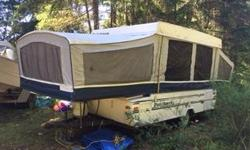 I have a 1998 Dutchman tent trailer for sale, it has a indoor outdoor stove top and fridge and furnace. It sleeps 6 people very comfortably, it is in good shape and still has a few years left. My kids are grown up now so it's a bit large for just me. It