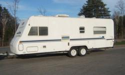 Beautiful 26' Aerolite travel trailer for sale or trade for 5th wheel or trailer with frount bedroom, rear bunks. Everything works!! Rear queen bedroom. Bran new floor.