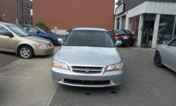 Make Honda Model Accord Year 1999 Colour silver kms 271000 Trans Automatic Automatic, AC, 4 Doors Sedan, 4 cylinders engine very good in gas, power windows, power lock, cruise control, power mirror, Alloy wheels, Spoiler, clean car, rust proofed, no rust,