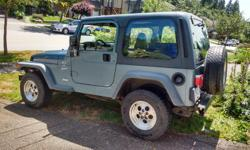 Make Jeep Model TJ Year 1999 Colour blue kms 226000 Trans Manual 1999 Jeep TJ 226000 km In great shape, not beaten on. seen a few logging roads. runs great, very minor scrapes here and there. 60% tread on tires. Needs new front breaks. Had regular oil