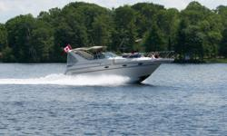 Mechanical Engines: 220HP Mercruiser 5.0L (305cid) carburated V8 w/freshwater cooling Drives and Propellers: Counterrotating Bravo II drives with 17 3/4 x 21 propellers Hours: approx. 395 Batteries: 4, deep-cycle marine grade Capacities Fresh Water: 30