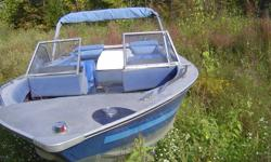 THIS IS A PROJECT  BOAT  IT HAS NO DRIVE LINE  WAS A 2.3  WITH A COBRA DRIVE  BUT ALSO CAN BE MADE INTO A OUT BOARD BOAT.. WHAT IS LEFT  FOR A DRIVE IS COMING OUT IT COMES WITH A VERY NICE TRAILER HEAVY DUTY, AND YES ITS FOR SALE SEPRATE, BOAT IS $1200