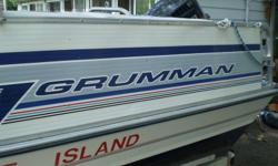 19ft grummam dock boat 115hp motor 2elec downer riggers 2 fish finders ex ex ex  harry `1705 715 8365