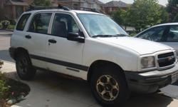 2000 Chevy Tracker2L Engine, 4 door. Tires Good condition.Selling as Is $1000.00 Needs to be fixed if on the road.For accurate information please contact.